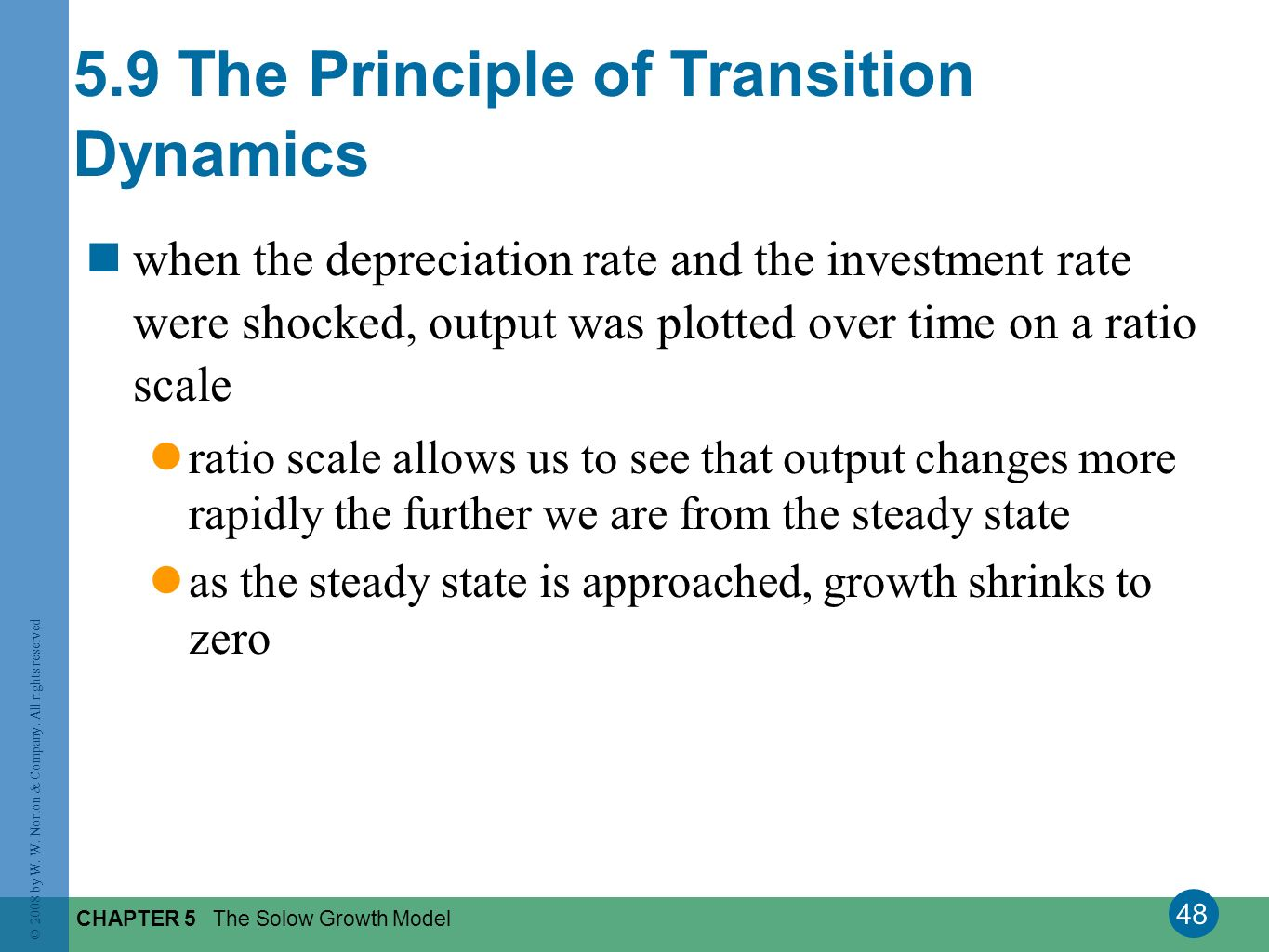 5.9 The Principle of Transition Dynamics