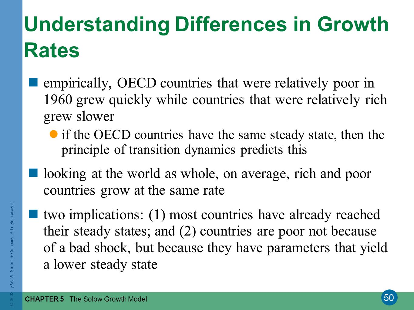 Understanding Differences in Growth Rates