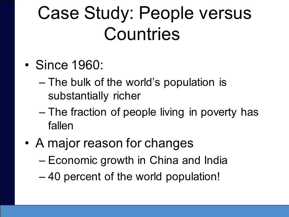 Case Study: People versus Countries