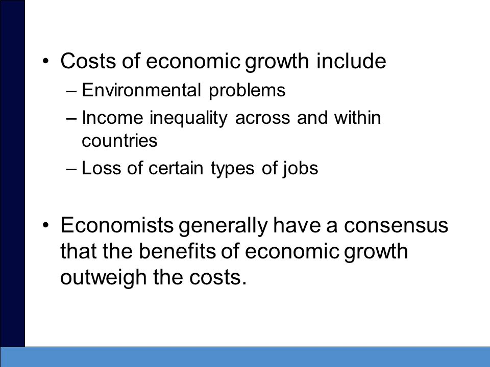 Costs of economic growth include