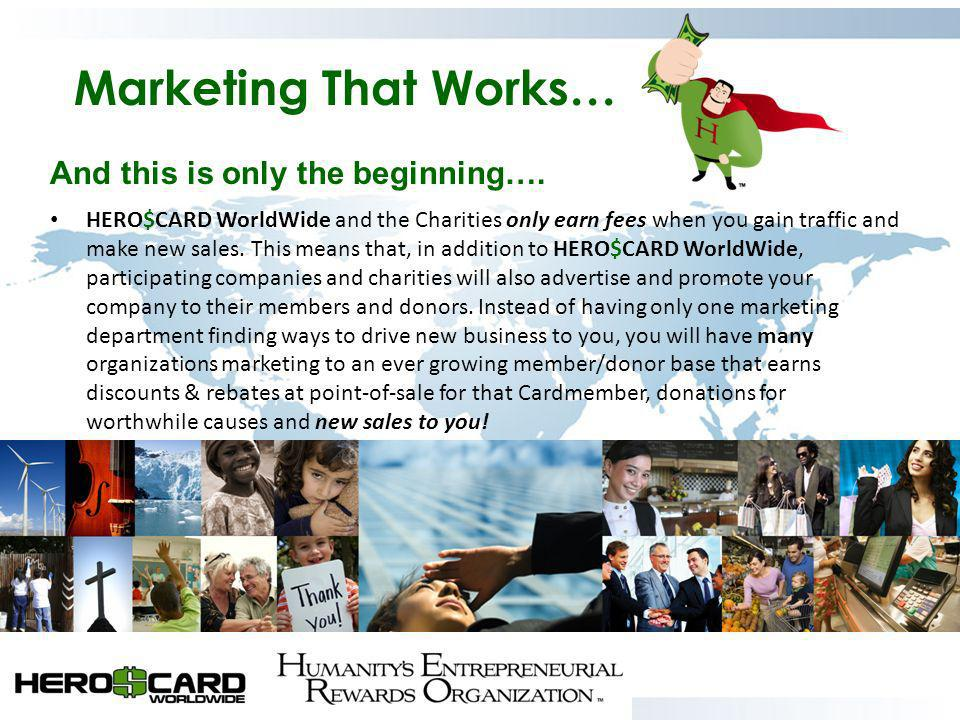 Marketing That Works… And this is only the beginning….