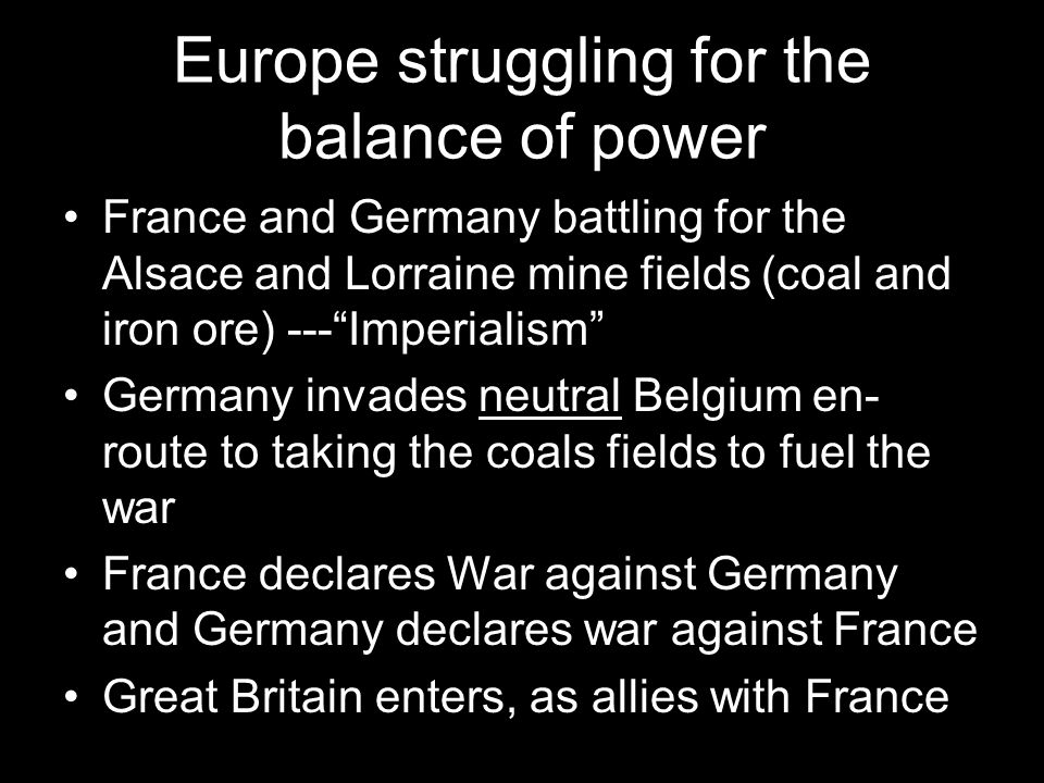 Europe struggling for the balance of power