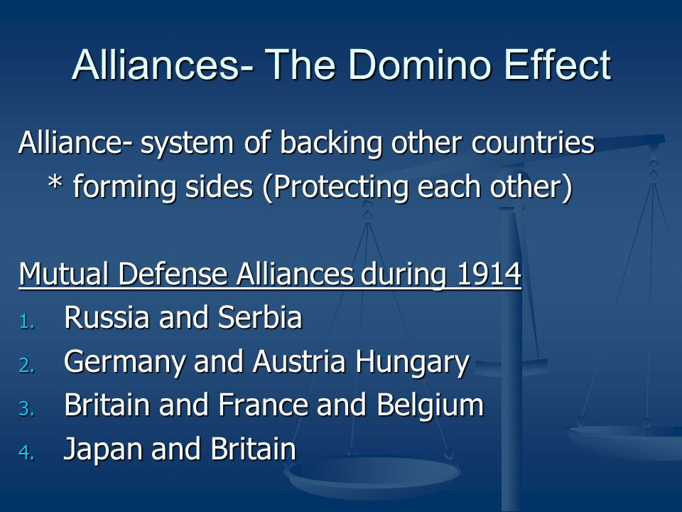 Alliances- The Domino Effect