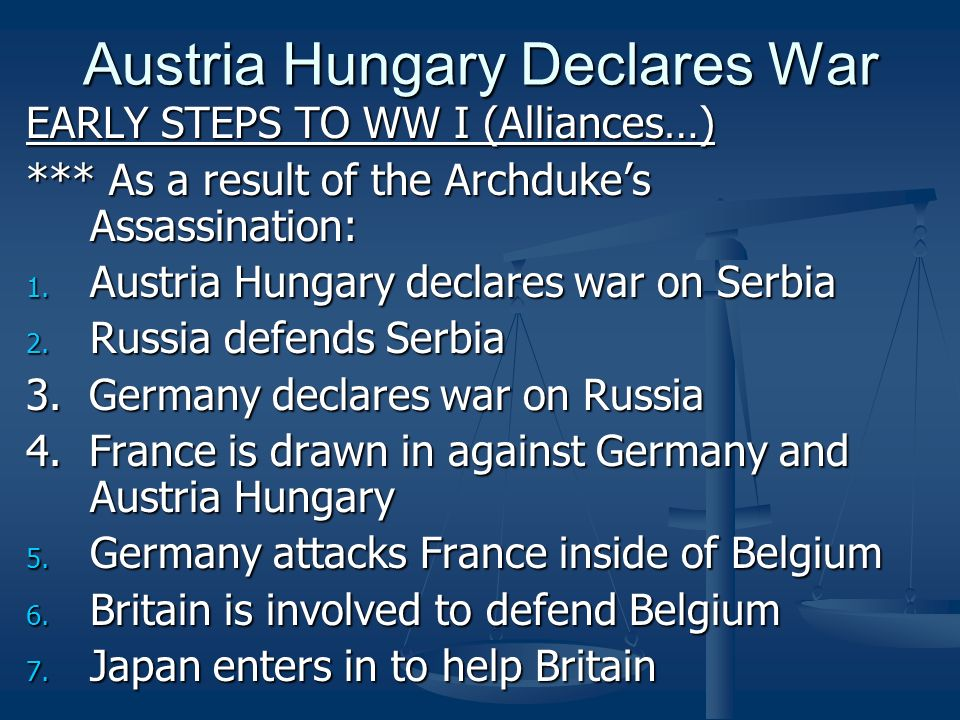 Austria Hungary Declares War