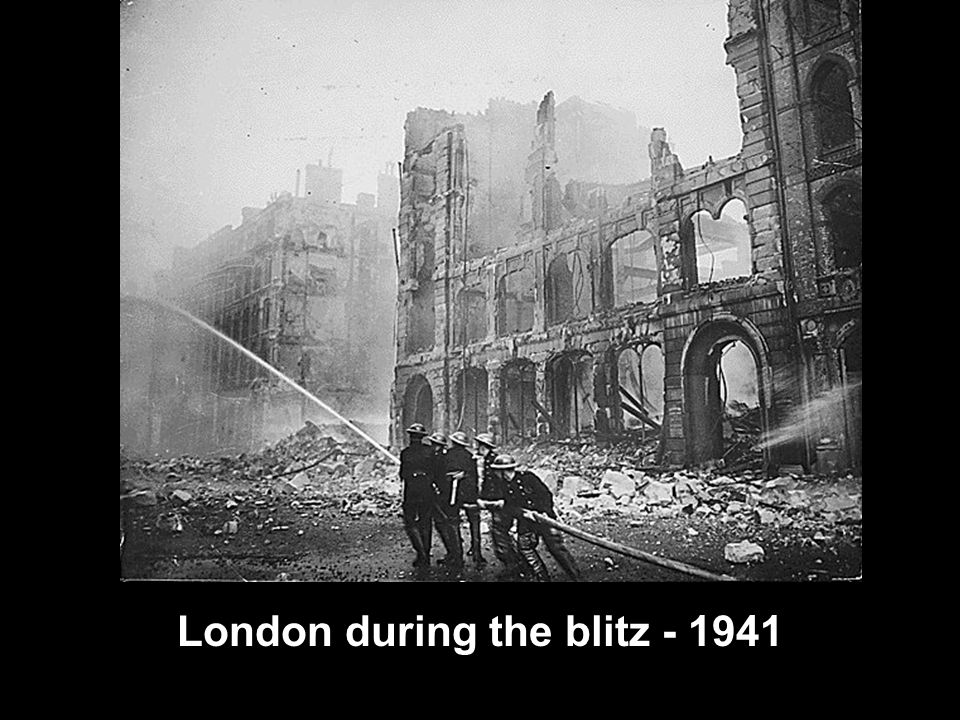 London during the blitz - 1941