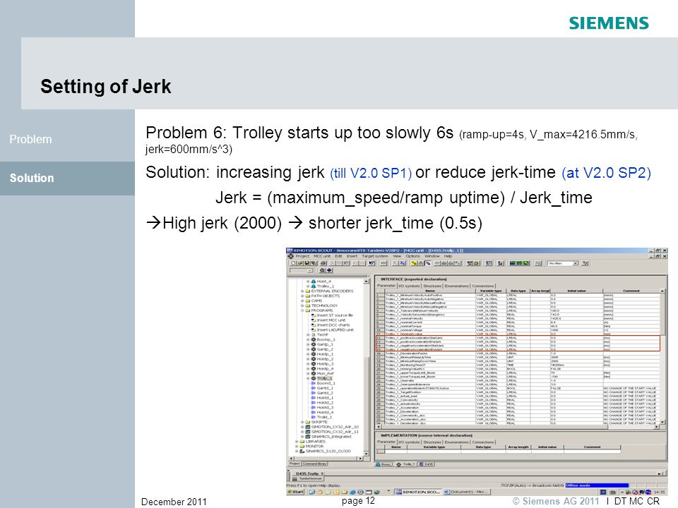Jerk = (maximum_speed/ramp uptime) / Jerk_time