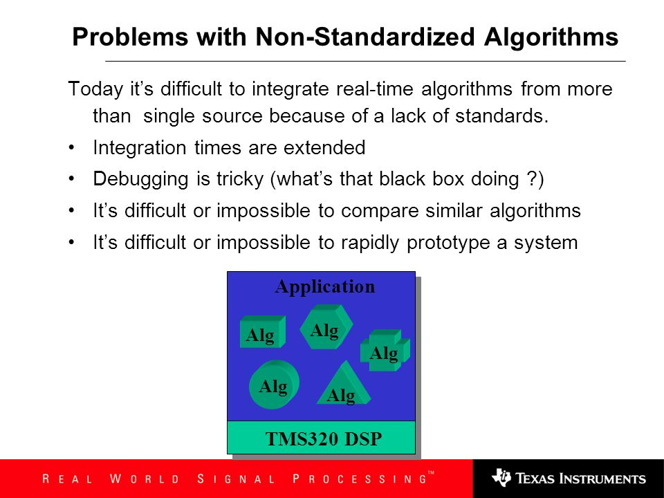 Problems with Non-Standardized Algorithms