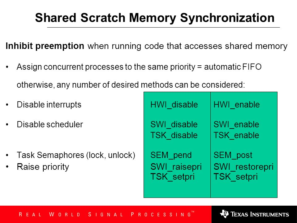 Shared Scratch Memory Synchronization