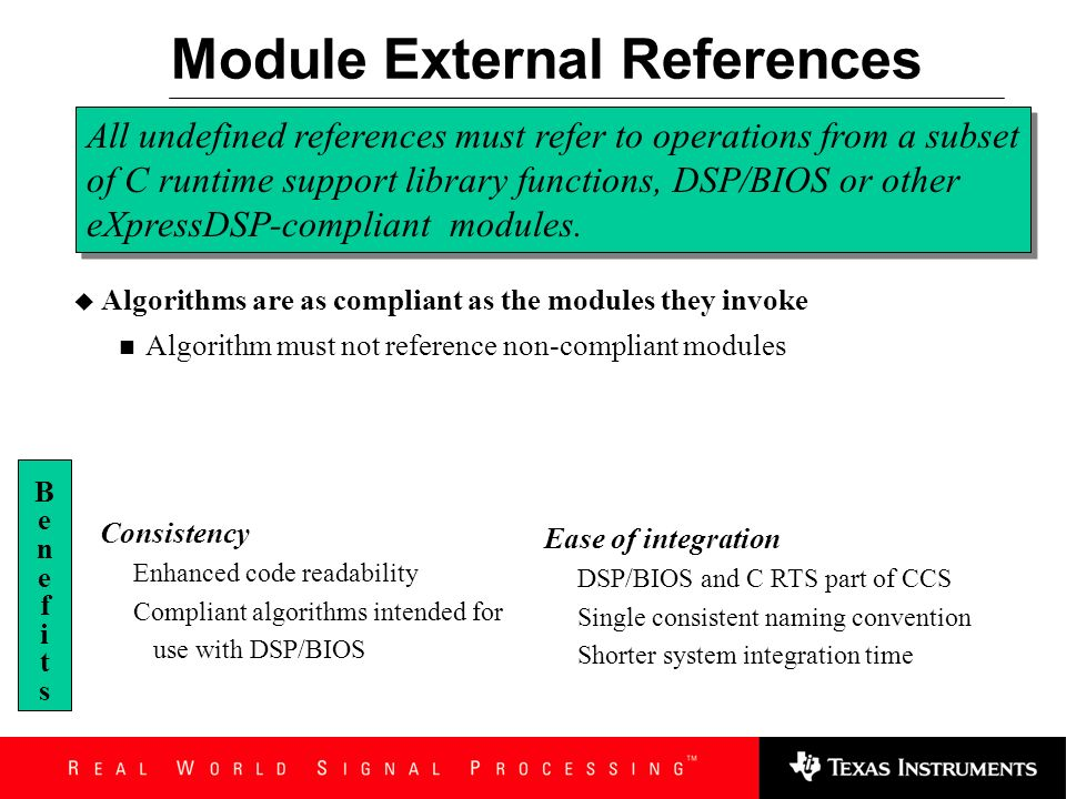 Module External References