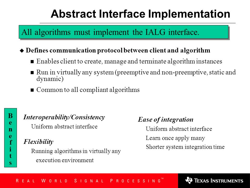 Abstract Interface Implementation