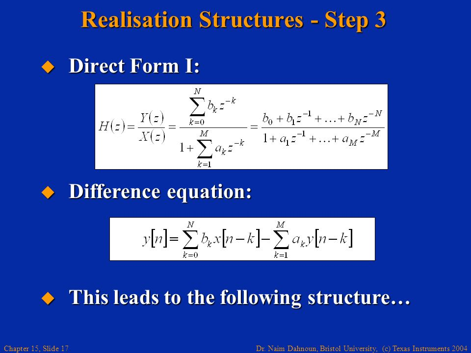 Realisation Structures - Step 3