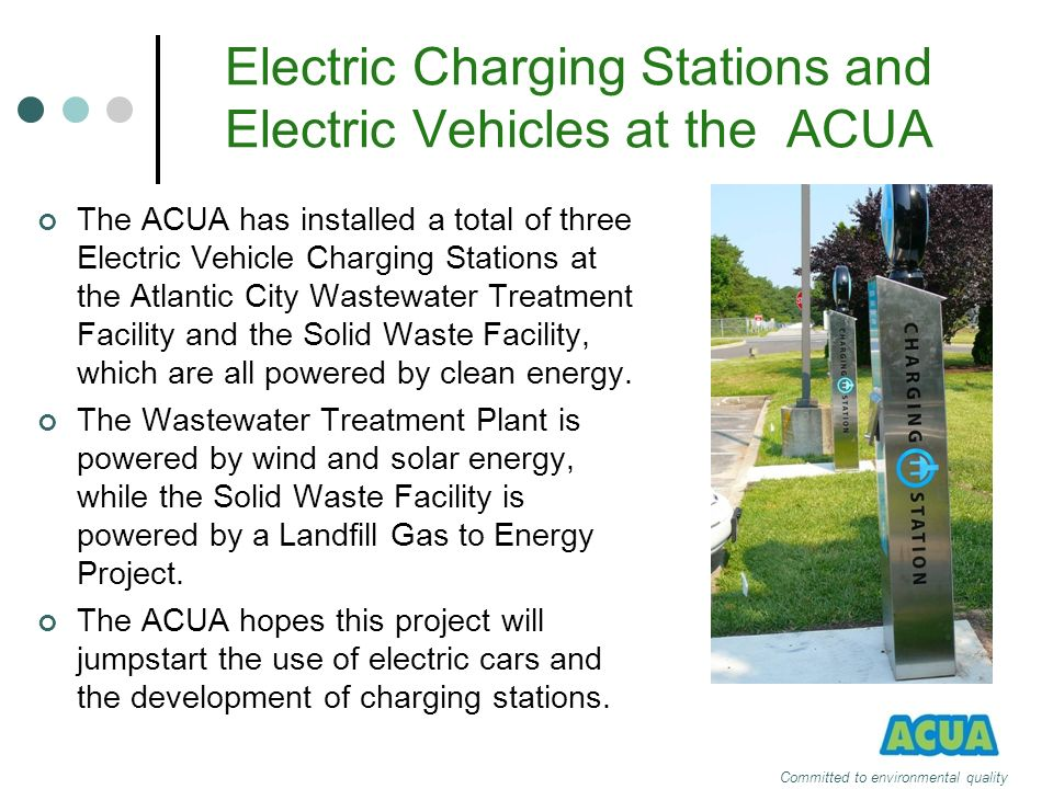 Electric Charging Stations and Electric Vehicles at the ACUA