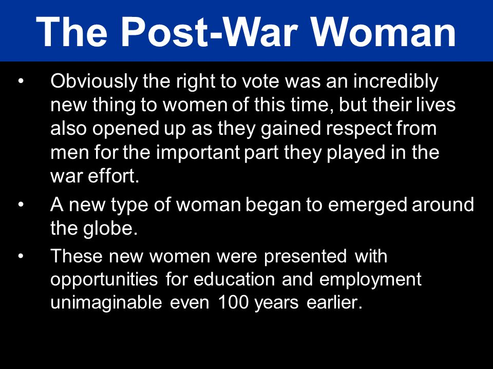 The Post-War Woman