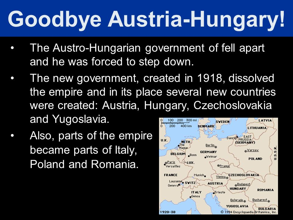 Goodbye Austria-Hungary!
