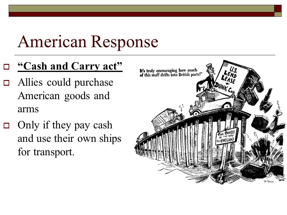 American Response Cash and Carry act