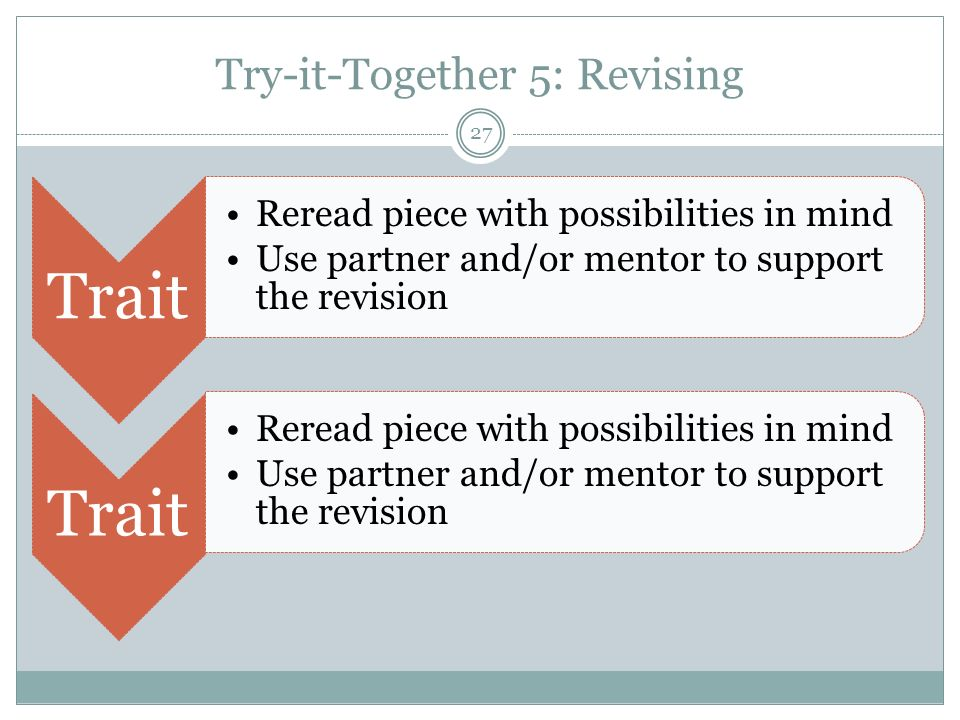 Try-it-Together 5: Revising