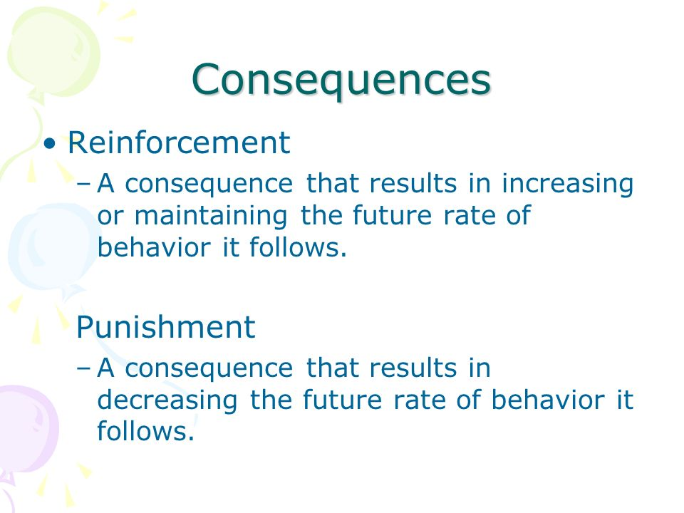Consequences Reinforcement Punishment