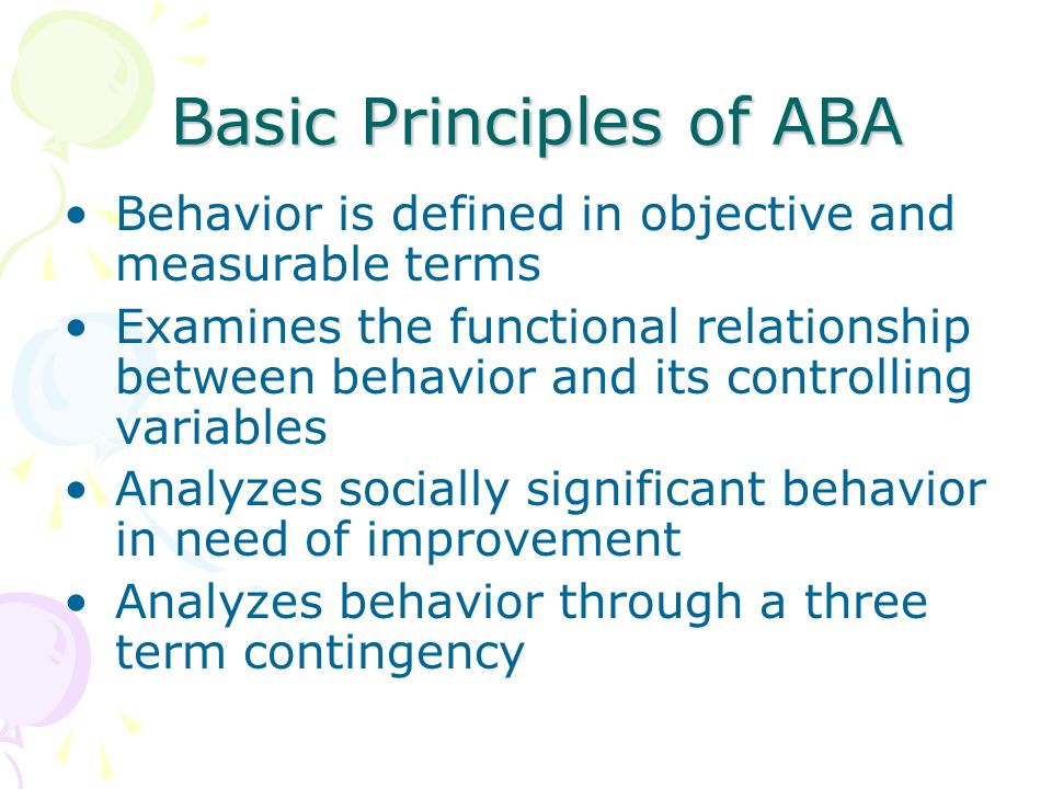 Basic Principles of ABA