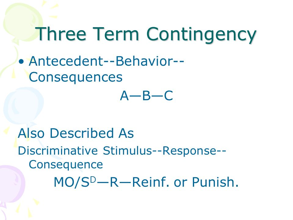 Three Term Contingency