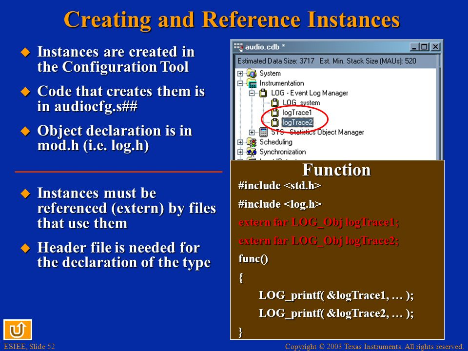 Creating and Reference Instances