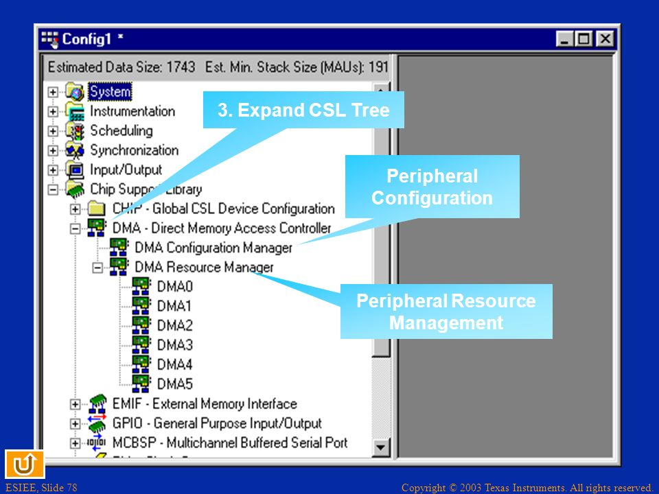 Peripheral Configuration Peripheral Resource Management