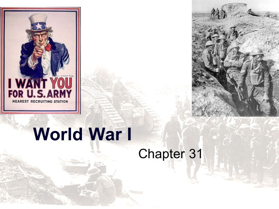 World War I Chapter 31