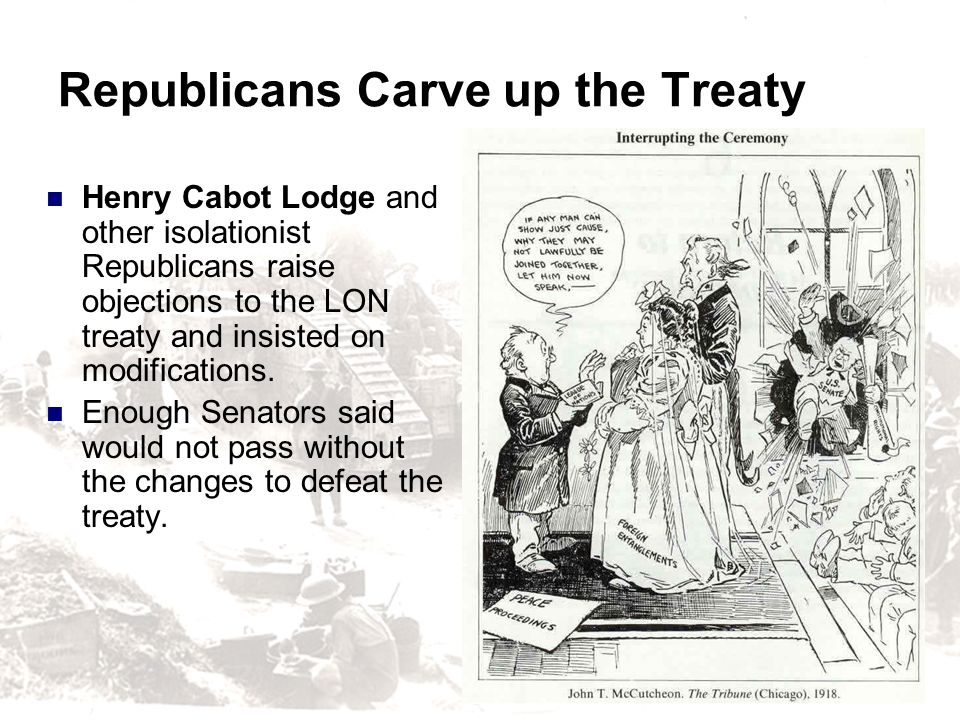 Republicans Carve up the Treaty