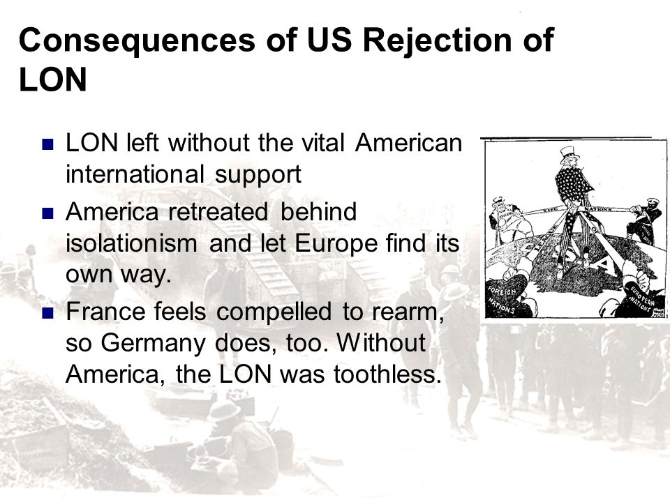 Consequences of US Rejection of LON