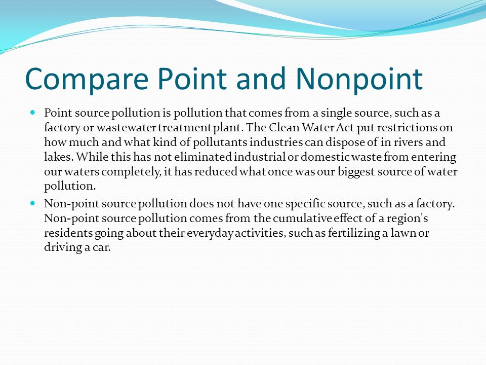 Compare Point and Nonpoint