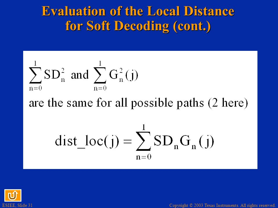 Evaluation of the Local Distance for Soft Decoding (cont.)