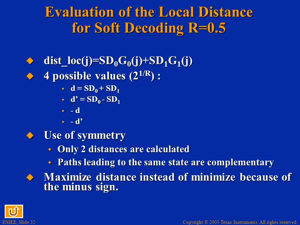 Evaluation of the Local Distance for Soft Decoding R=0.5