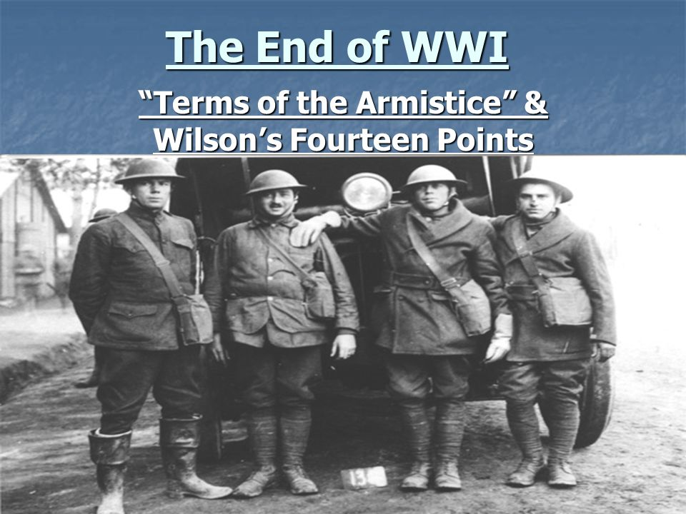 Terms of the Armistice & Wilson's Fourteen Points
