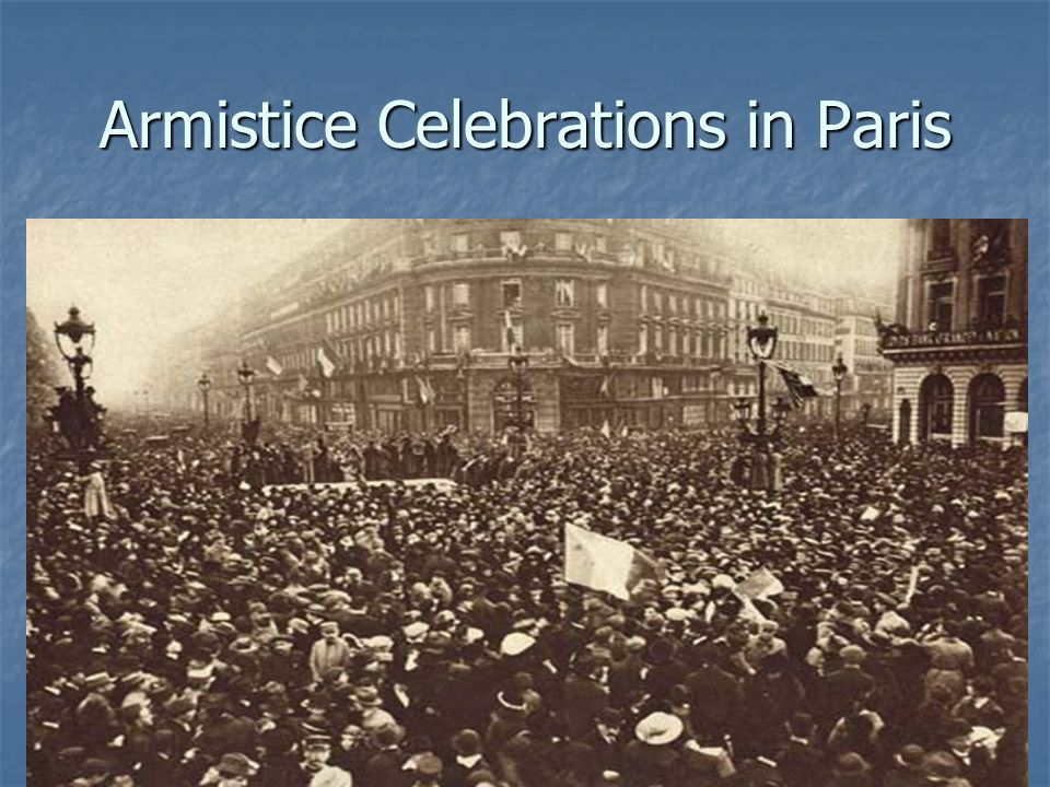 Armistice Celebrations in Paris