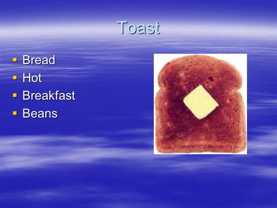 Toast Bread Hot Breakfast Beans