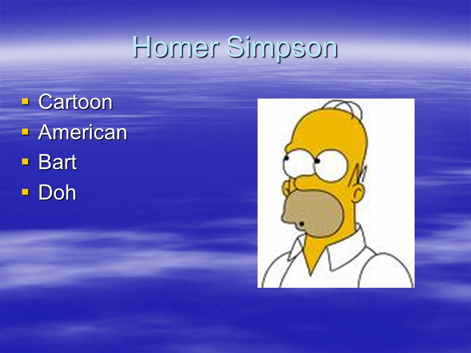 Homer Simpson Cartoon American Bart Doh