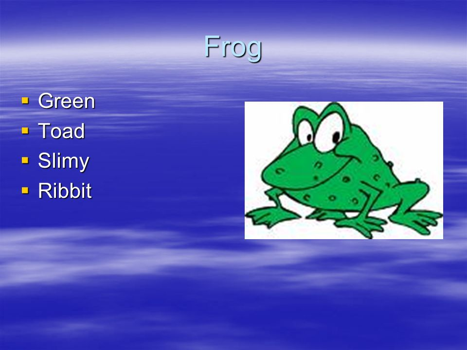 Frog Green Toad Slimy Ribbit