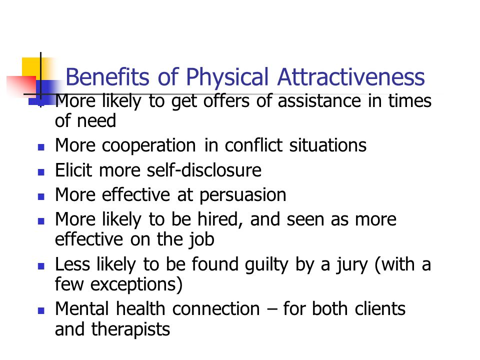 Benefits of Physical Attractiveness