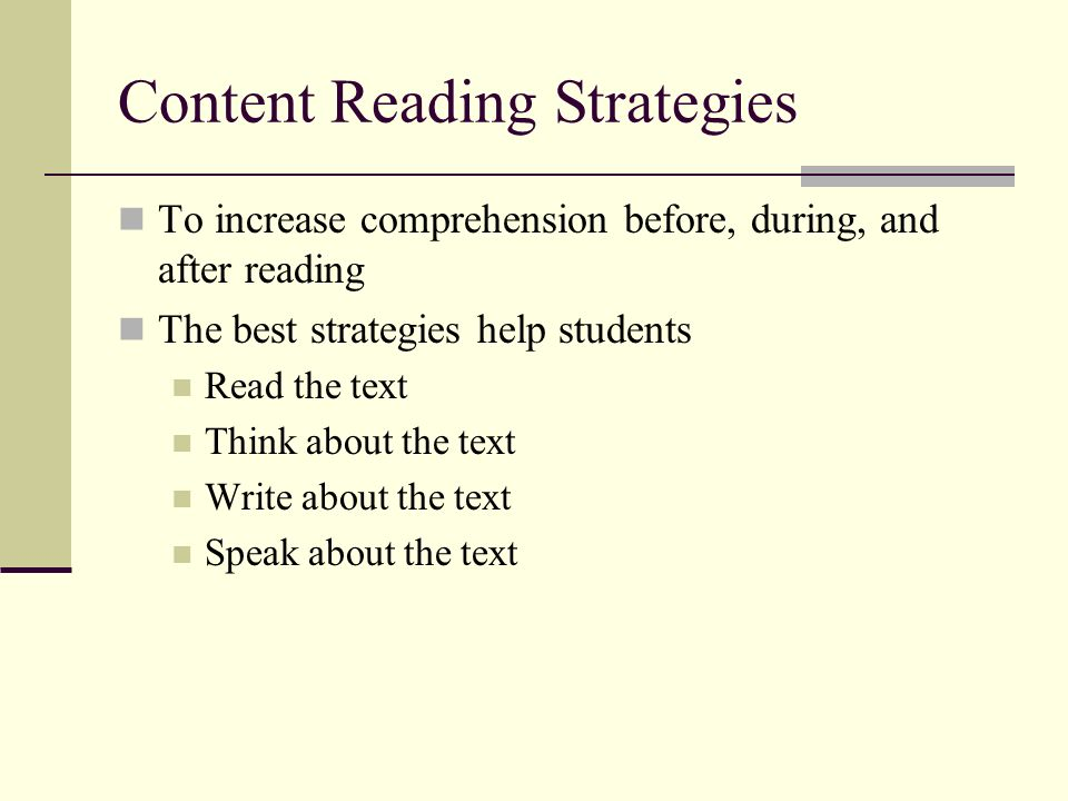 Content Reading Strategies