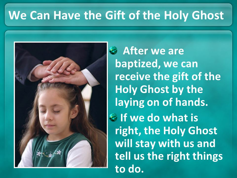 We Can Have the Gift of the Holy Ghost