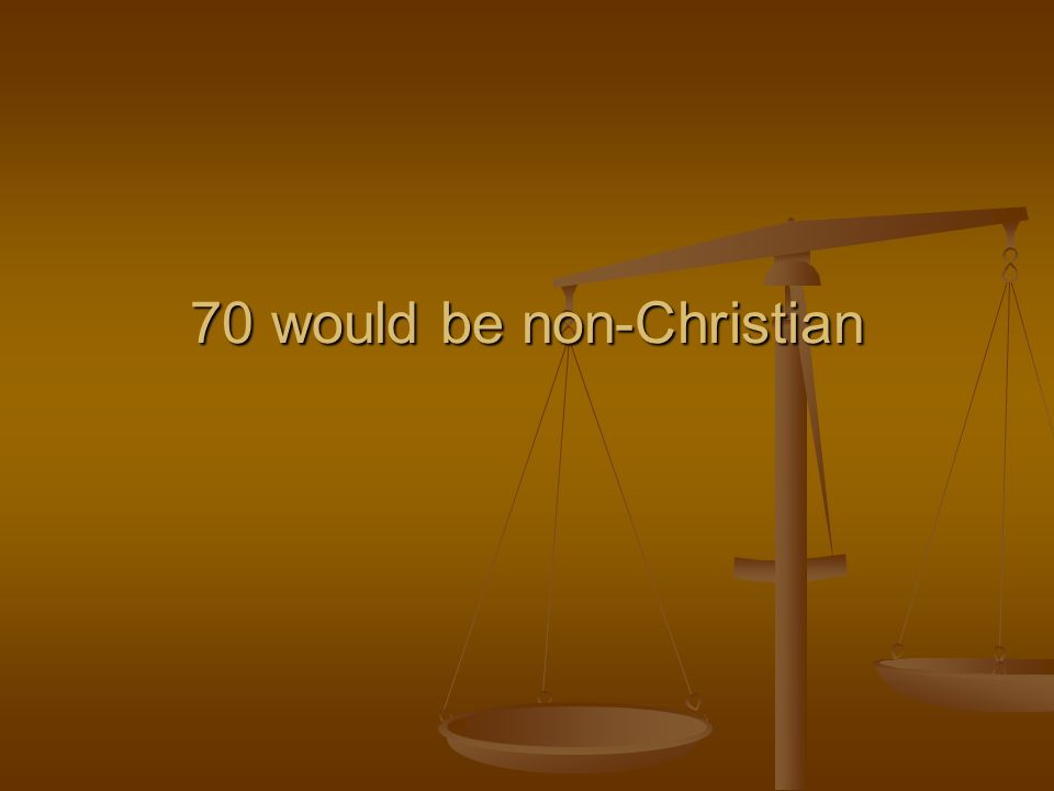 70 would be non-Christian