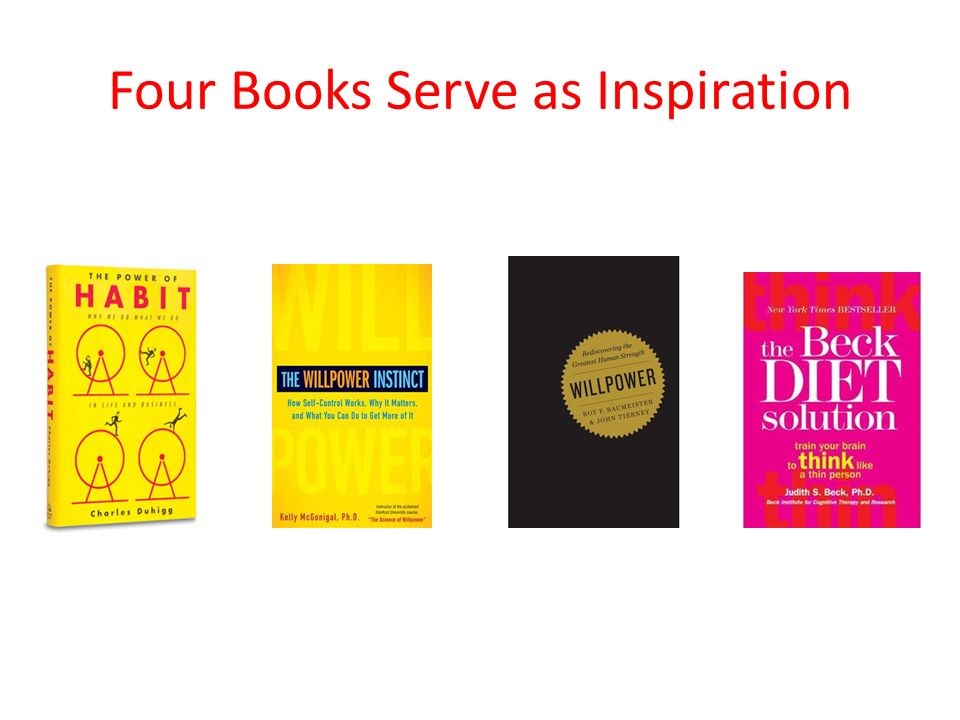 Four Books Serve as Inspiration