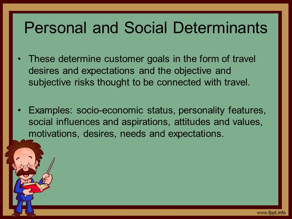 Personal and Social Determinants