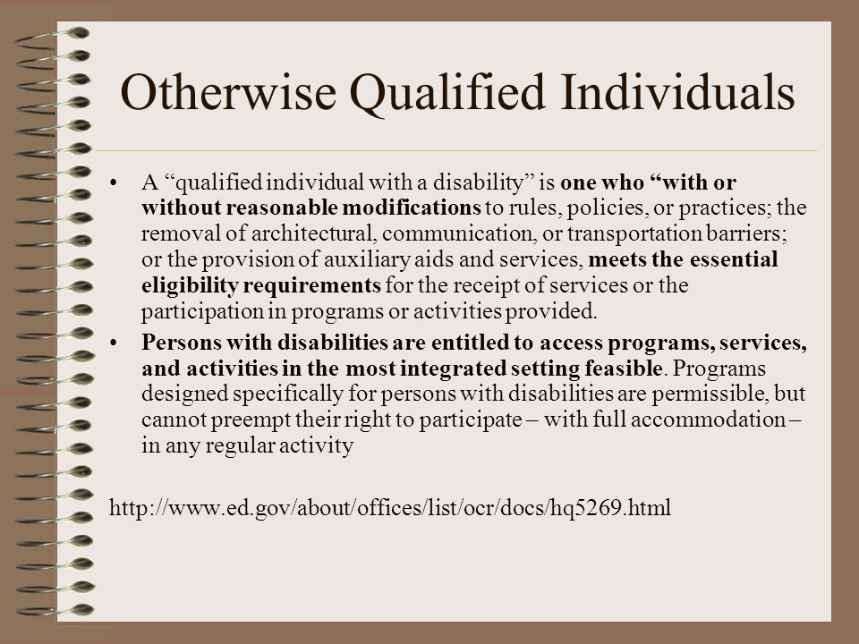 Otherwise Qualified Individuals