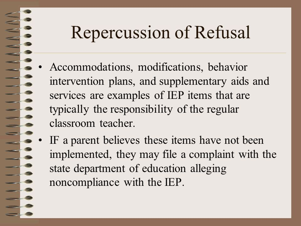 Repercussion of Refusal