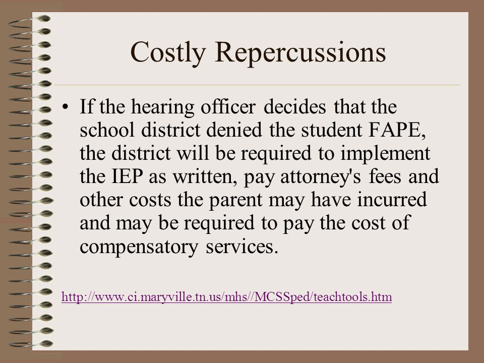 Costly Repercussions