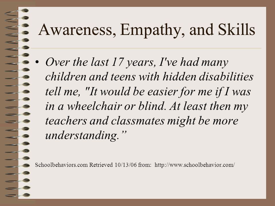 Awareness, Empathy, and Skills