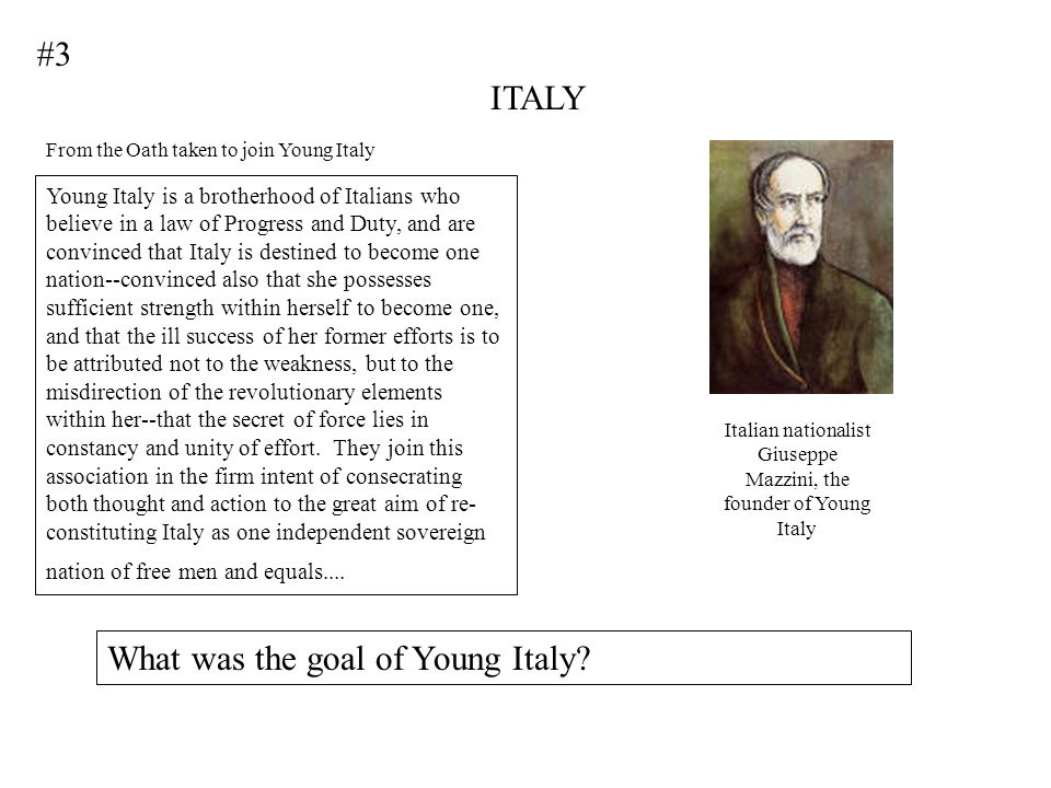 Italian nationalist Giuseppe Mazzini, the founder of Young Italy