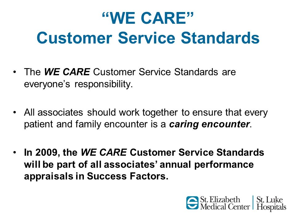 WE CARE Customer Service Standards