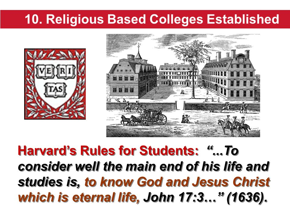10. Religious Based Colleges Established