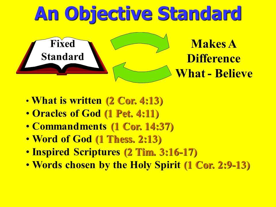 An Objective Standard Makes A Difference What - Believe Fixed Standard